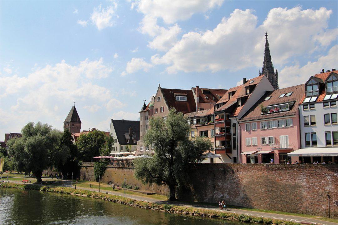 La ville d'Ulm, en Allemagne, le long du Danube