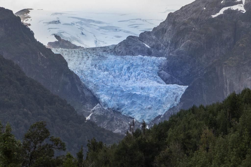 Le glacier Queulat, sur la Carretera Austral