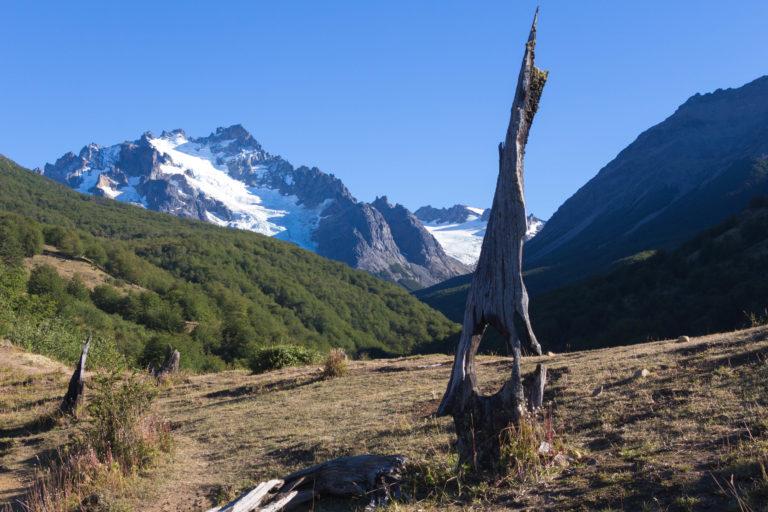 Paysage sur le chemin de randonnée, qui mène au mirador du Cerro Castillo, Carretera Austral