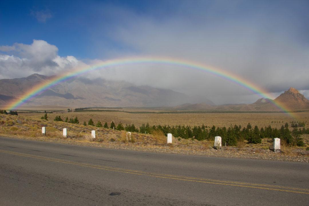 Arc en ciel vers Esquel, Ruta 40, Argentine