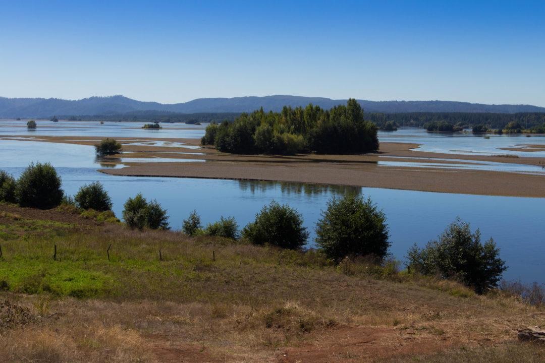 Le rio Bio-Bio, avant d'arriver à Concepcion