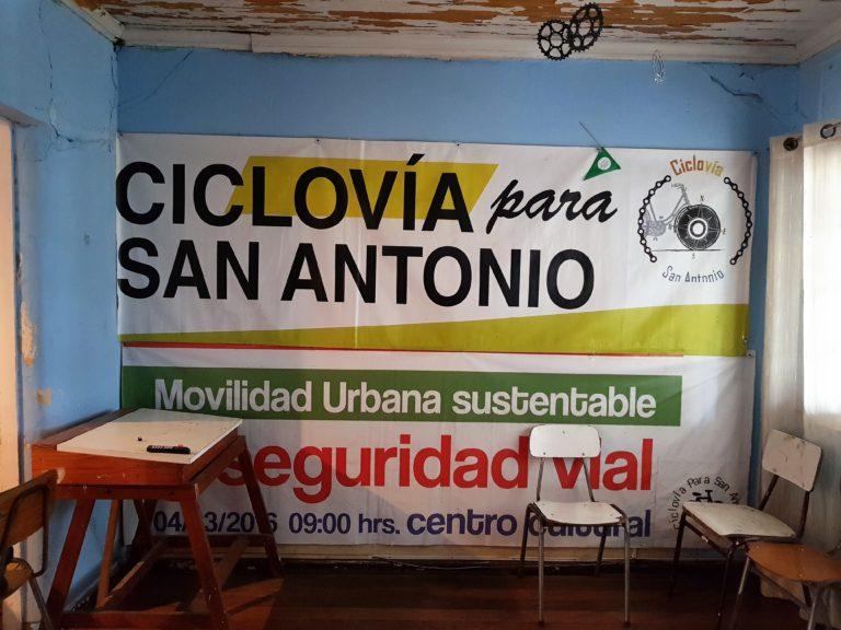 L'une des principales revendications de l'association de la Casa del Ciclista de San Antonio est d'obtenir la création d'UNE piste cyclable en ville, car il n'y en a aucune pour le moment ...