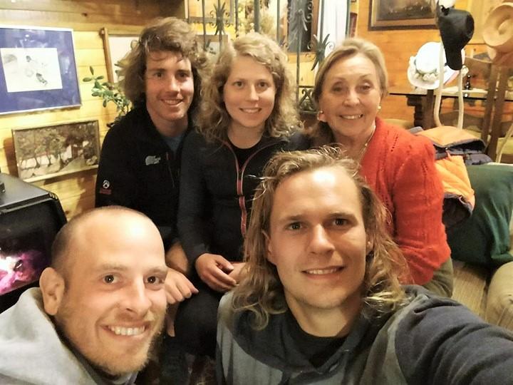 Chez Patricia, avec Troels et Marc