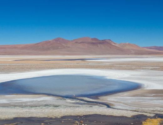 Paysage du désert d'Atacama, après la frontière du Paso de Jama