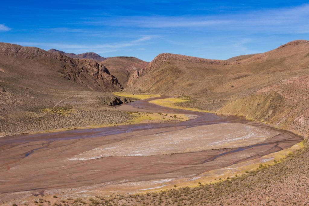 Paysage du Paso de Jama, avant Susques, Argentine