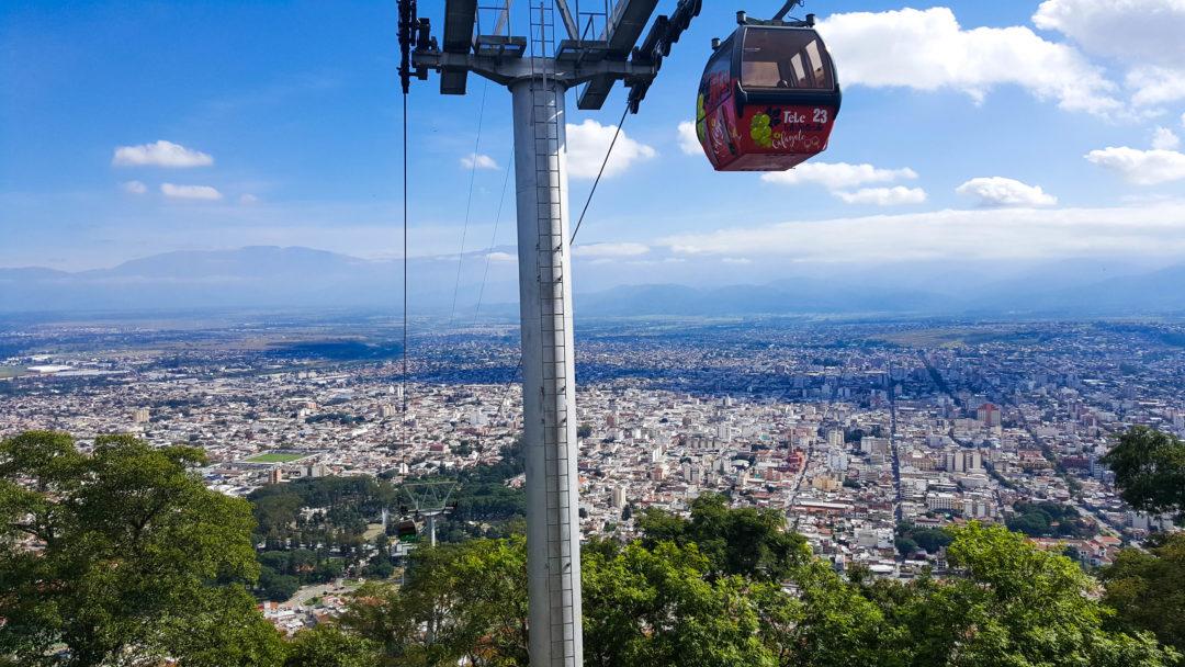 Le téléphérique San Bernardo à Salta, d'où l'on a une belle vue sur toute la ville