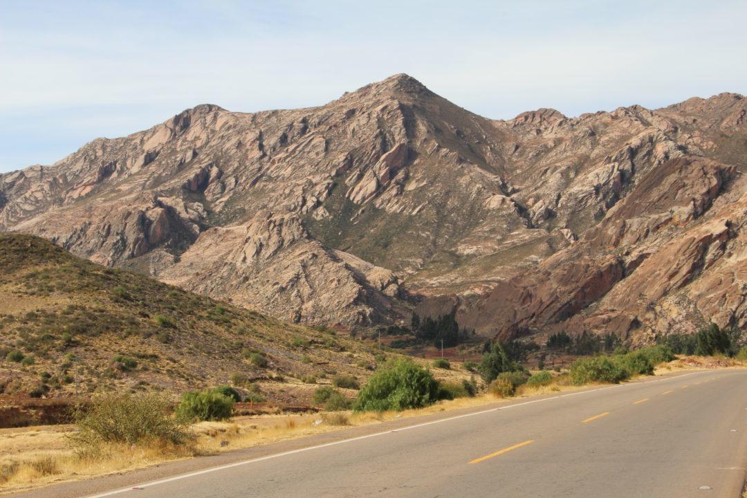 Paysage de montagnes, sur la route entre Potosi et Sucre