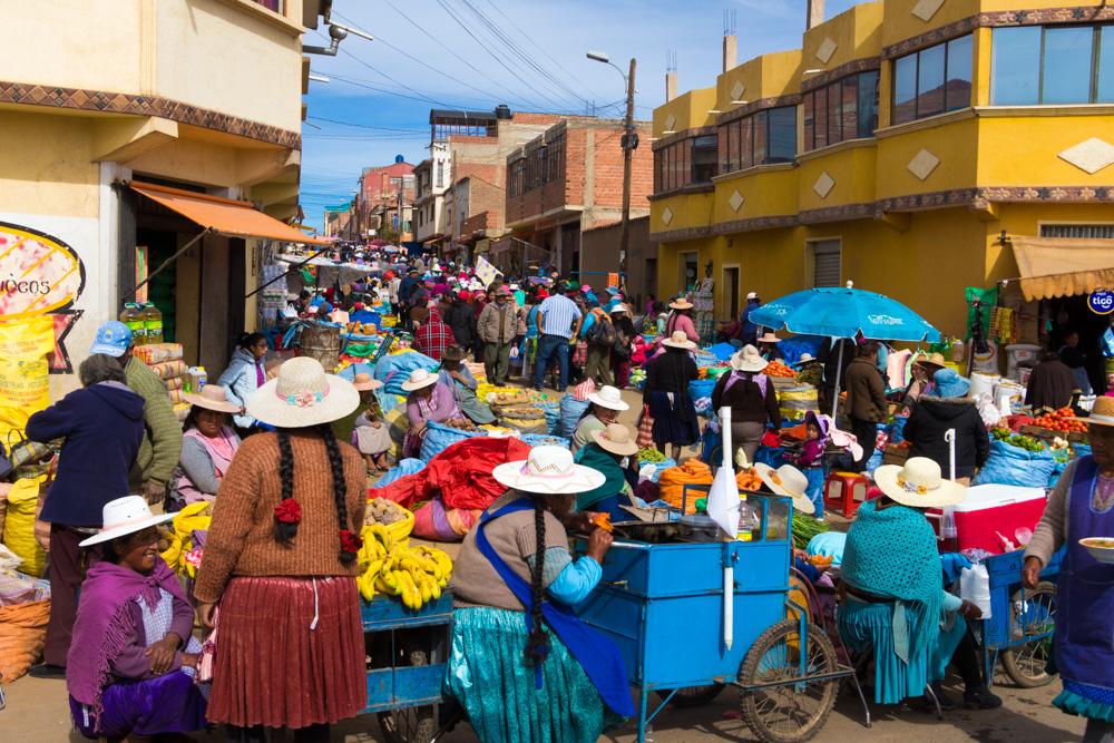 Le mercado Uyuni, à Potosi