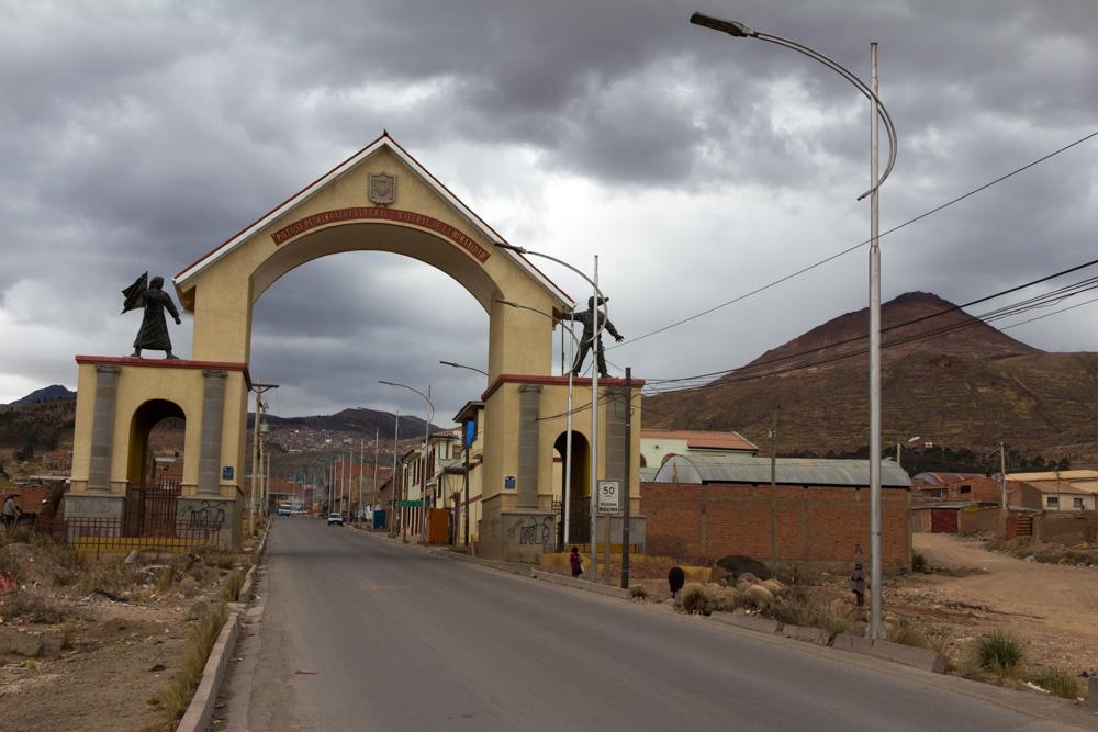 Le portail d'entrée de la ville de Potosi
