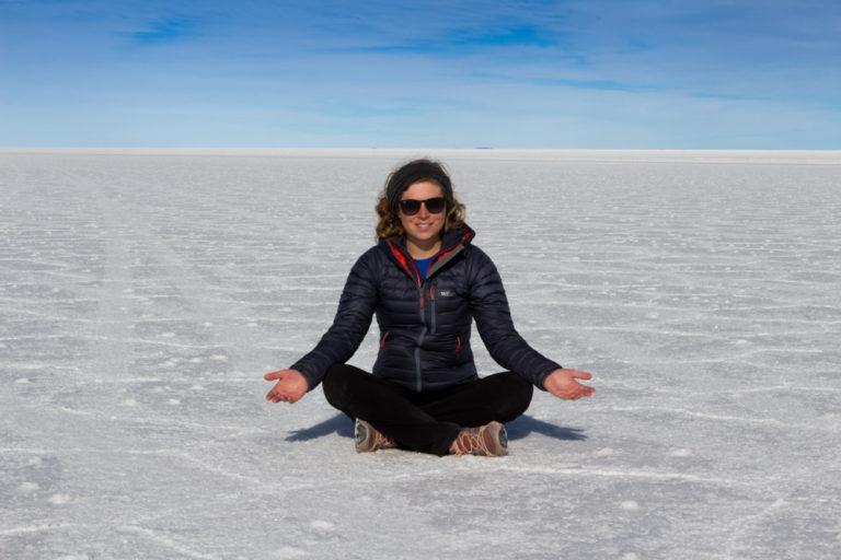 Instant méditation sur le Salar d'Uyuni