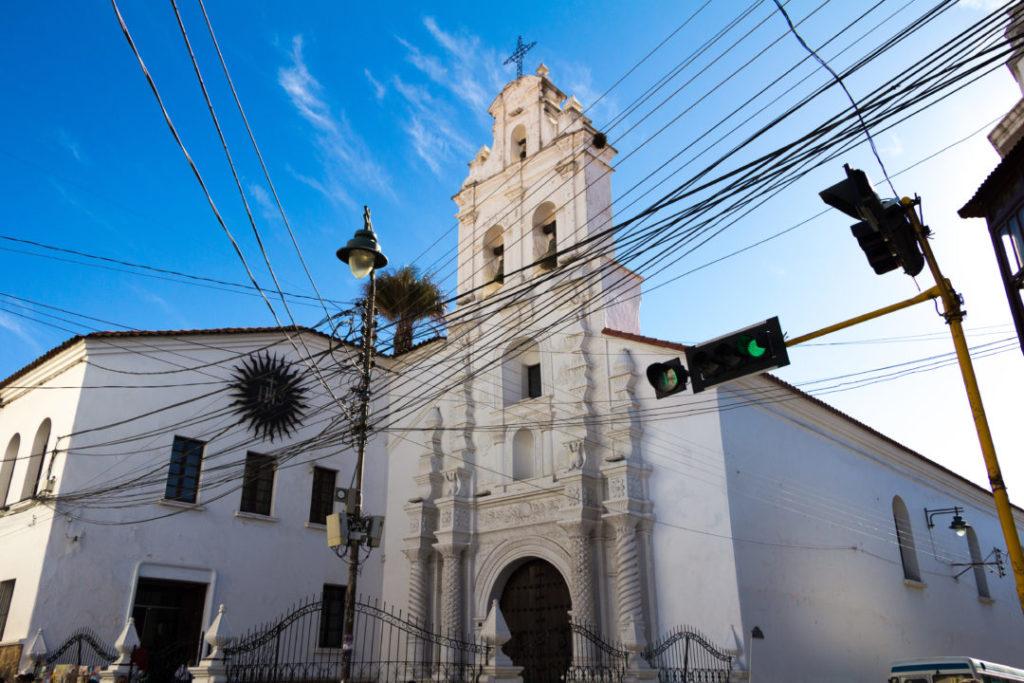 L'église Santa Monica, à Sucre