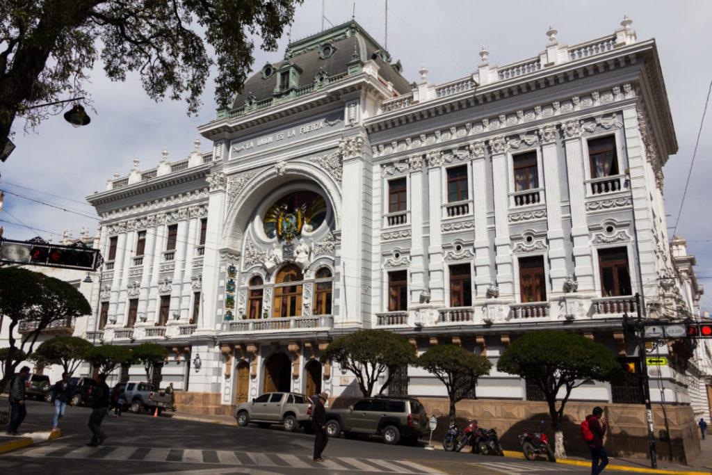 Le gouvernement de la ville de Sucre, sur la place 25 de Mayo