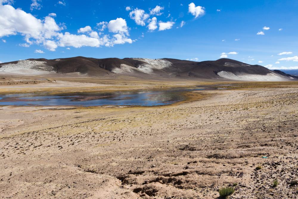 Paysage de la vallée du Siquili, en Bolivie, entre Uyuni et Potosi