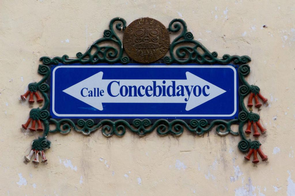 Cusco - Panneau de rue