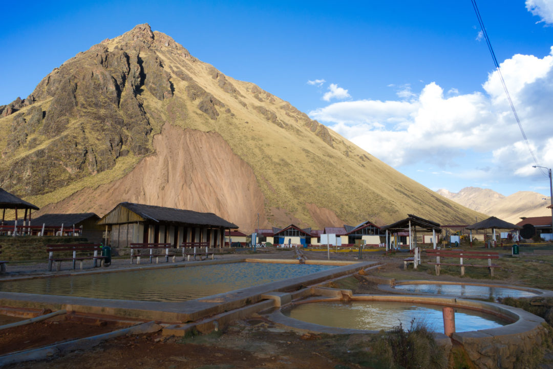 Les thermes d'Aguas Calientes, entre Juliaca et Cusco