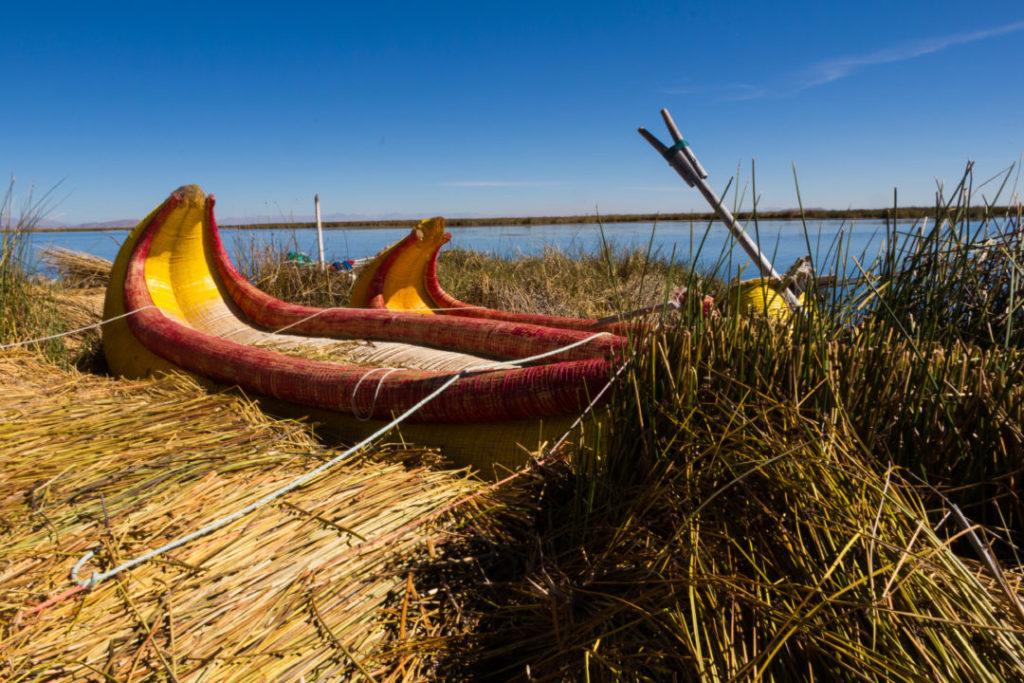Iles Uros - Barques en roseaux