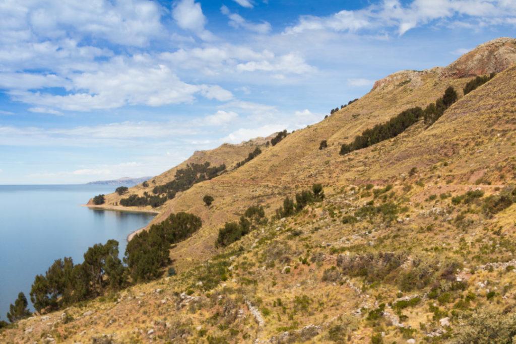 Vue du lac Titicaca, depuis la péninsule de Capachica