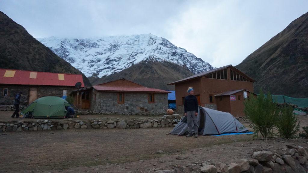 Nos tentes à Soraypampa, après la première journée de marche