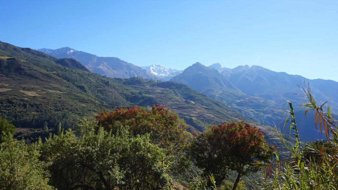 La vallée après Mollepata, au départ du premier jour
