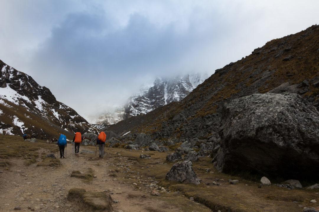 La montée au col du Salkantay, depuis Soraypampa