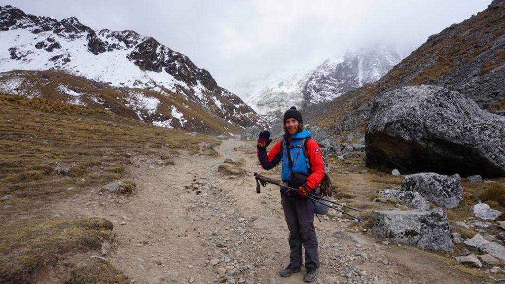 Simon, dans la montée au col du Salkantay