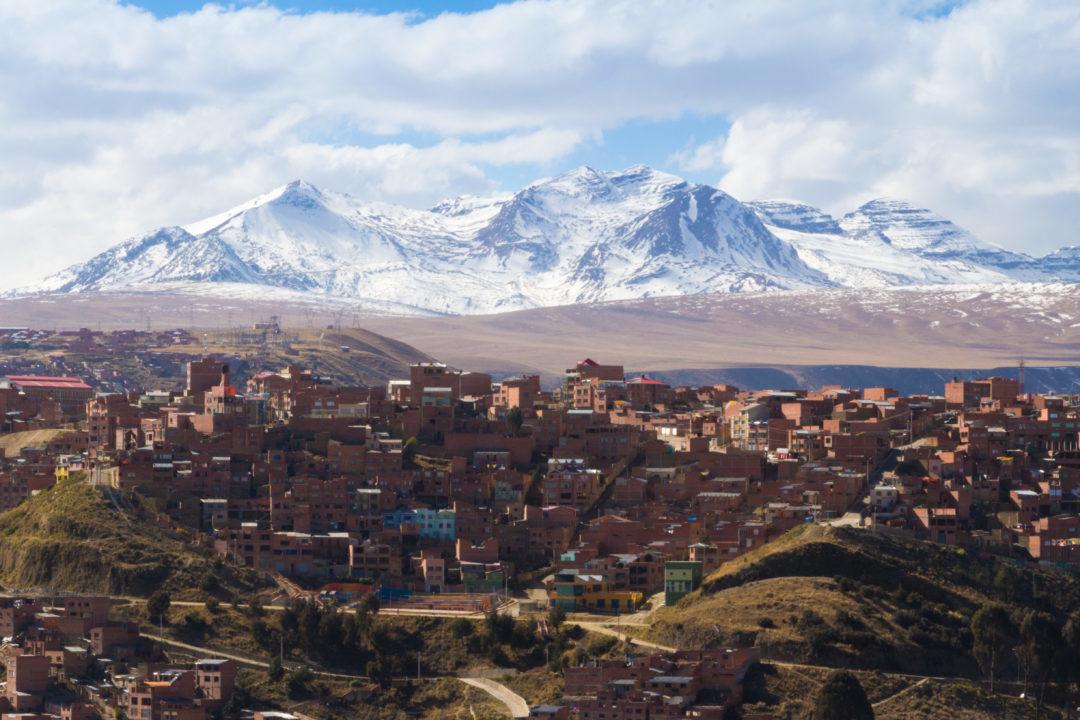 Le Nevado Illimani (6.438 m) qui domine La Paz