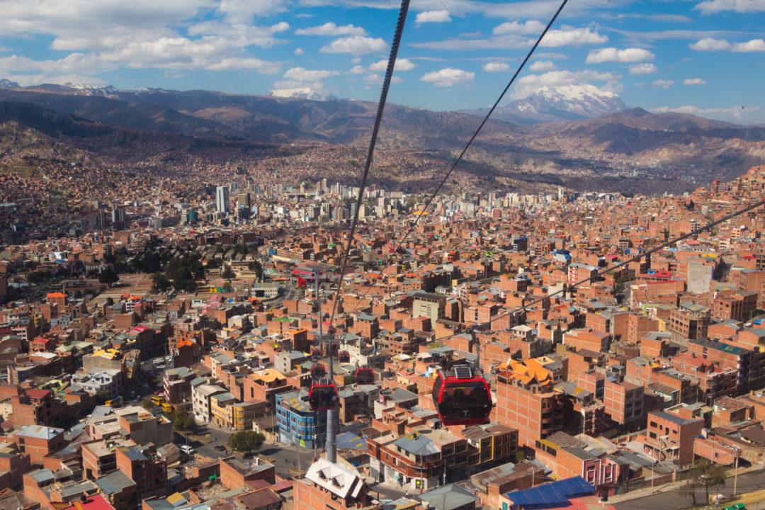 La vue de La Paz depuis le mirador d'El Alto (4.095 m)