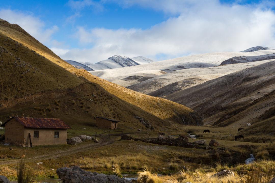Entre Huancayo et Cerro de Pasco - Neige sur les hauteurs