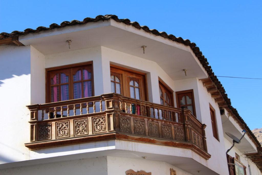 Chacas - Balcon en bois