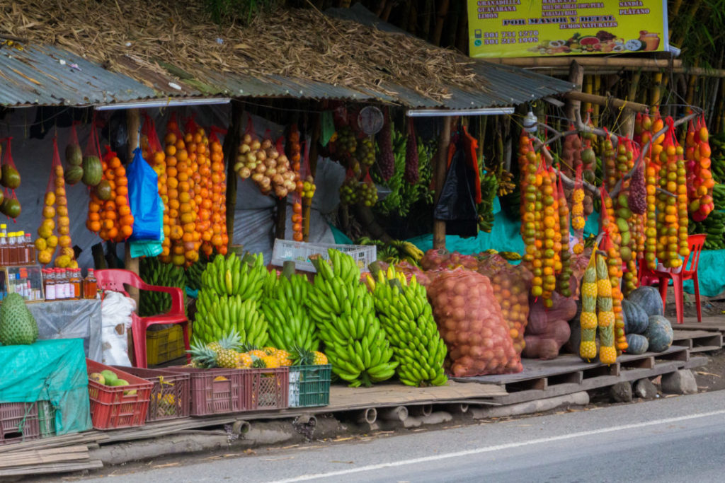Entre Cali et Salento - Marchands de fruits sur le bord de la route