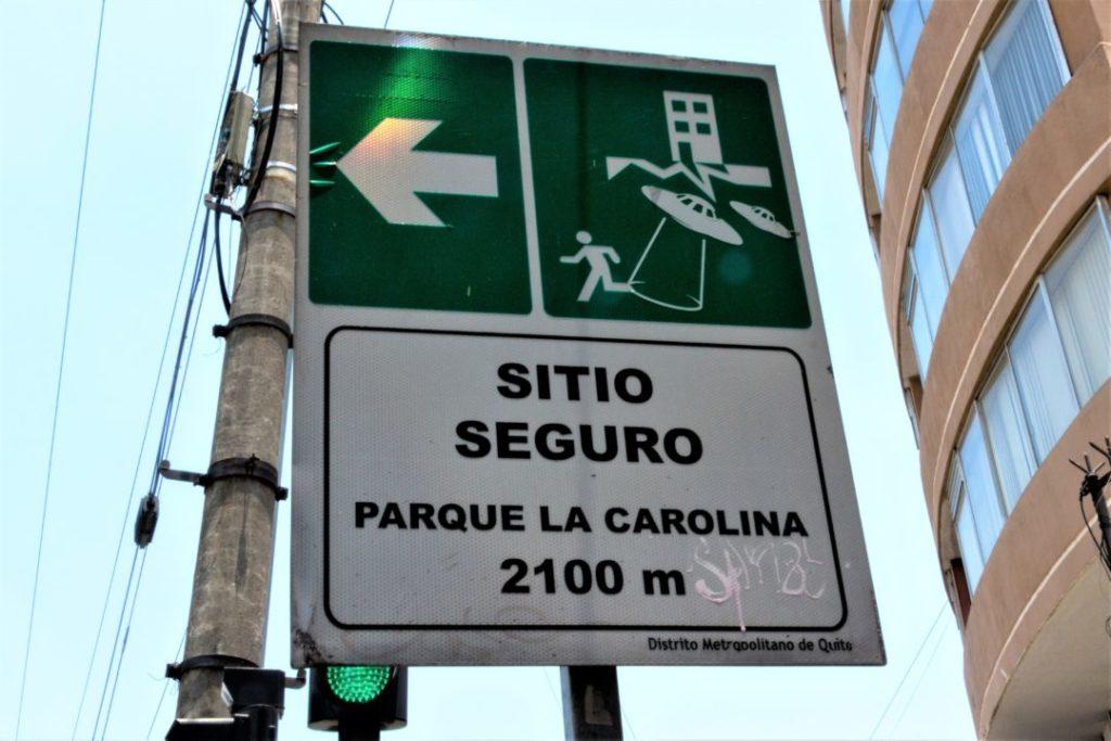 Equateur - Panneau Sitio seguro