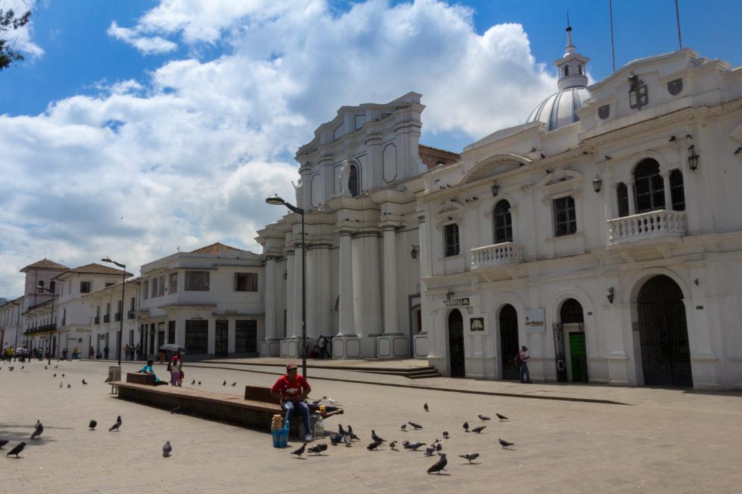 Popayan - Place centrale et cathédrale
