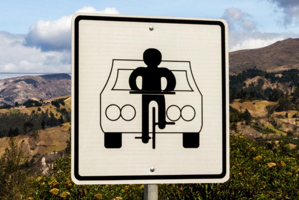 Quilotoa Loop - Panneau vélo