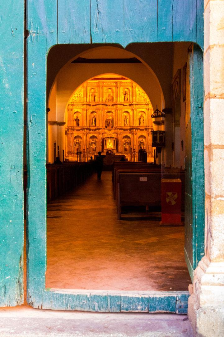 Villa de Leyva - Porte de l'église