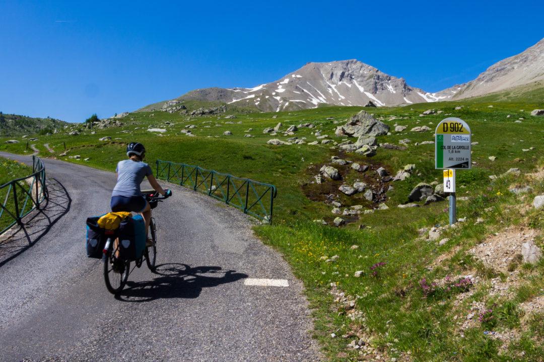 Col de la Cayolle - Pauline dans la montée