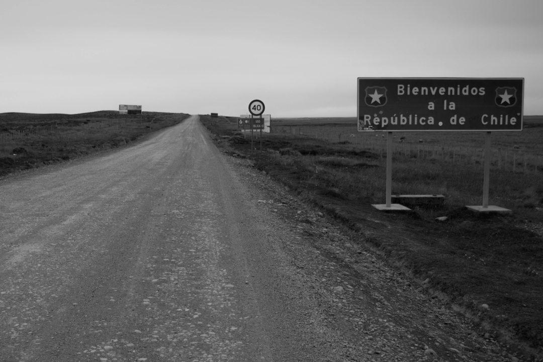 Passage de la frontière chilienne, San Sebastian, Terre de Feu