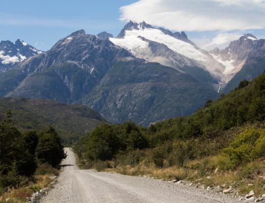 Un glacier, sur la Carretera Austral