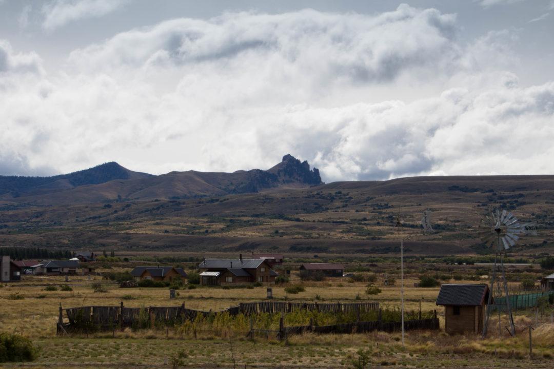 """Un paysage de """"far west"""", près de Junin de los Andes, Argentine"""