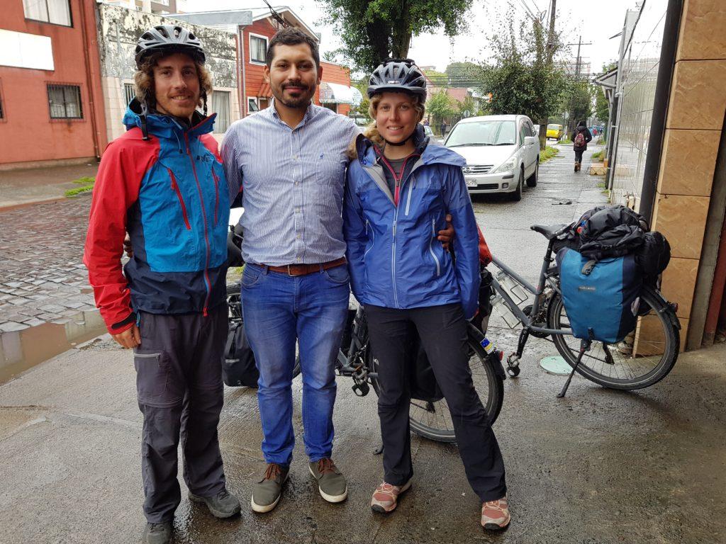 A Temuco, nous sommes hébergés par André (Couchsurfing)