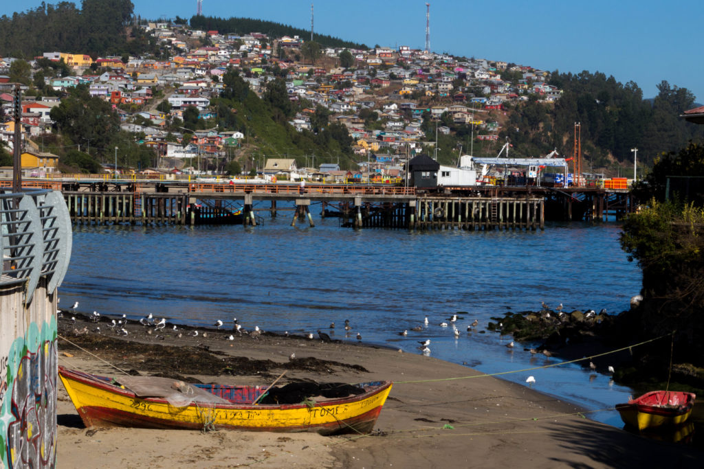 Tomé, au nord de Concepcion, est un village de pêcheur et une station balnéaire. Nous profitons du calme de la station balnéaire hors saison pour nous reposer !