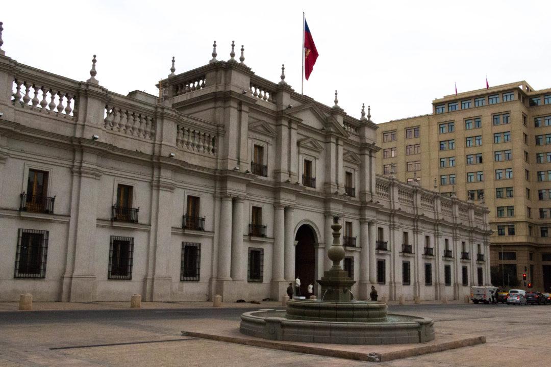 Palais de la Moneda à Santiago, résidence du président de la République, lieu des événements tragiques du 11 septembre 1973 (coup d'état de Pinochet)
