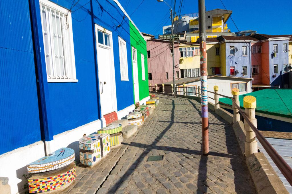 Maisons colorées du cerro Bellavista à Valparaiso
