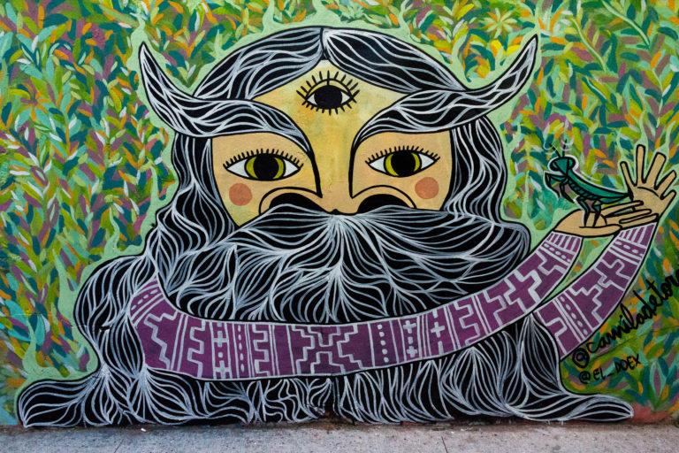 Mural d'un sage à Valparaiso