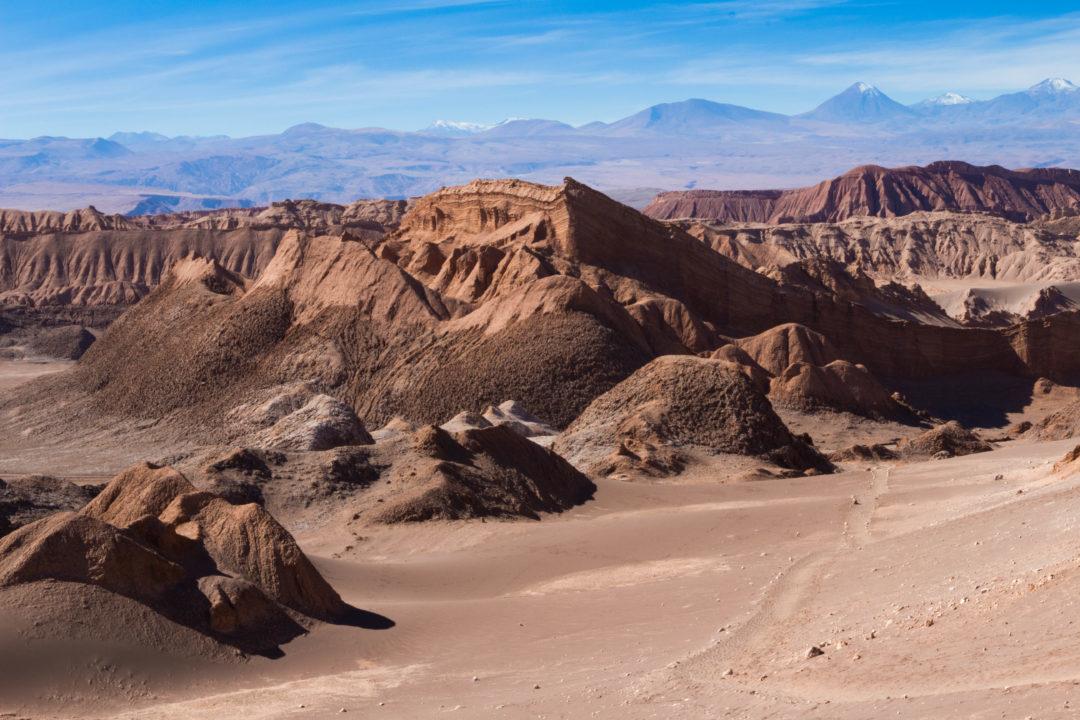 Paysage de la Vallée de la Lune, San Pedro de Atacama, Chili