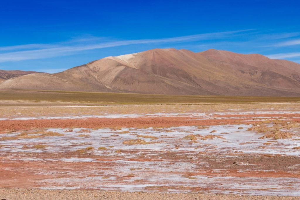 Paysage de saline, Paso de Jama, entre Susques et Jama, Argentine