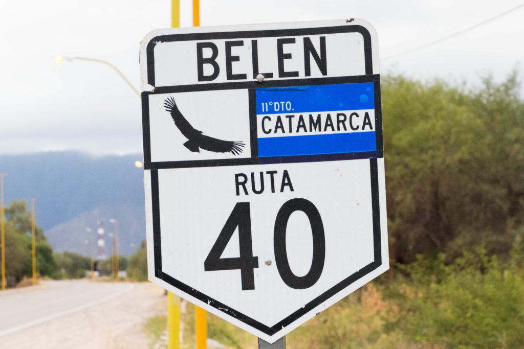 La Ruta 40, route mythique d'Argentine qui descend jusqu'au sud du pays et que nous suivrons sur toute l'étape