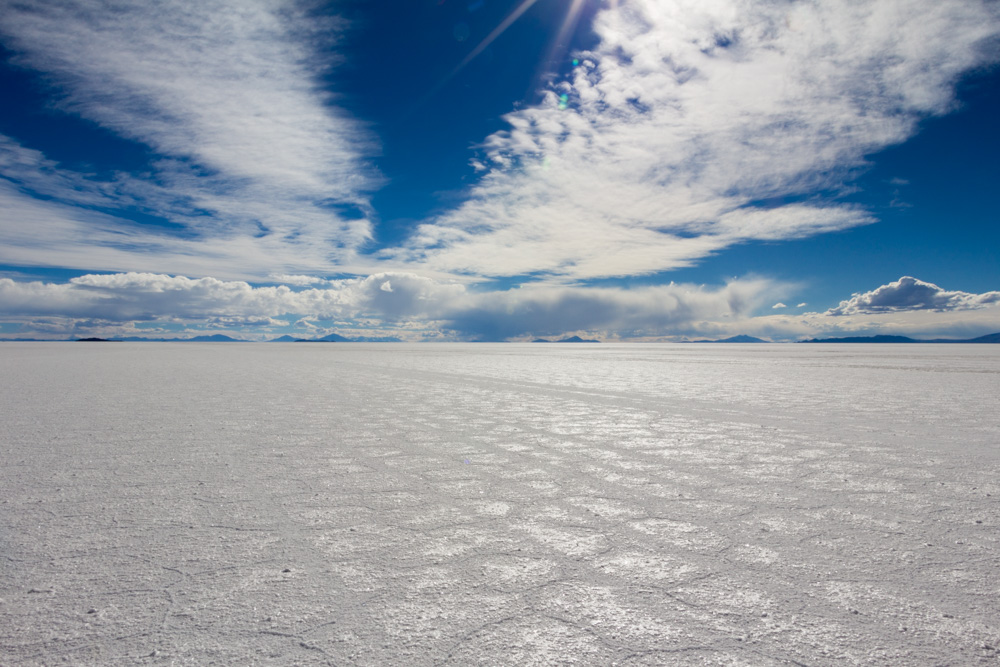 La croûte de sel du Salar d'Uyuni, du blanc à perte de vue