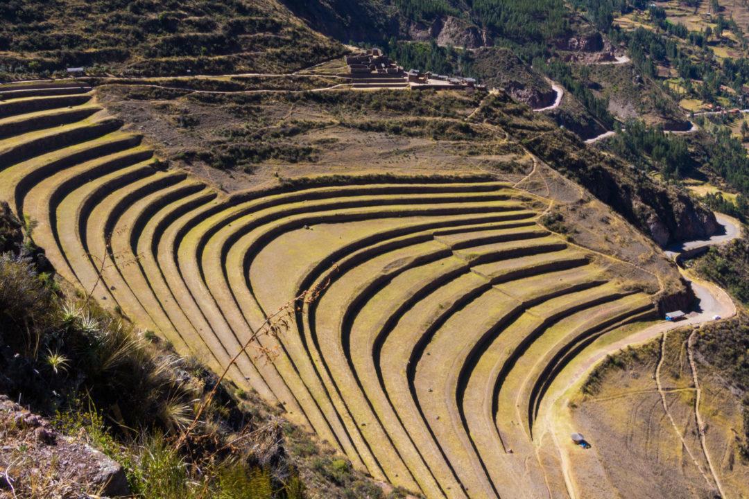 Les terrasses du site de Pisac