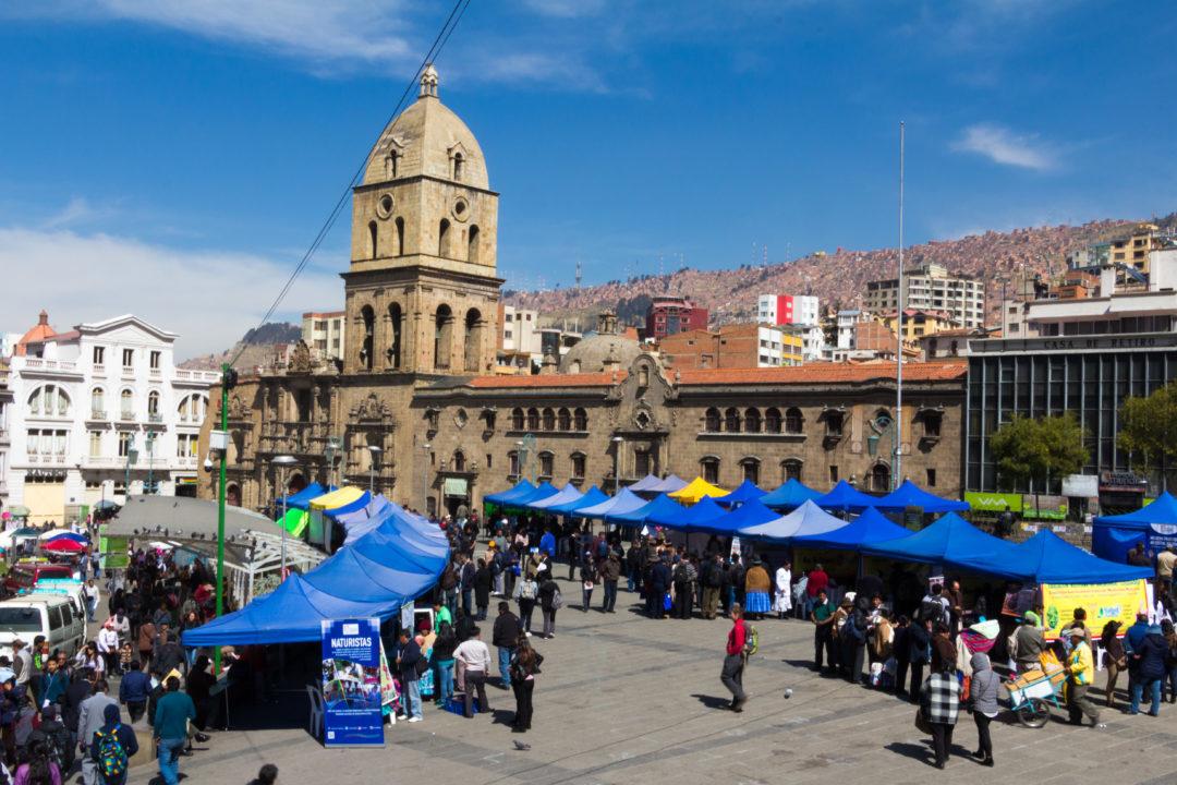 L'église San Francisco, à La Paz, un des derniers édifices de l'époque coloniale