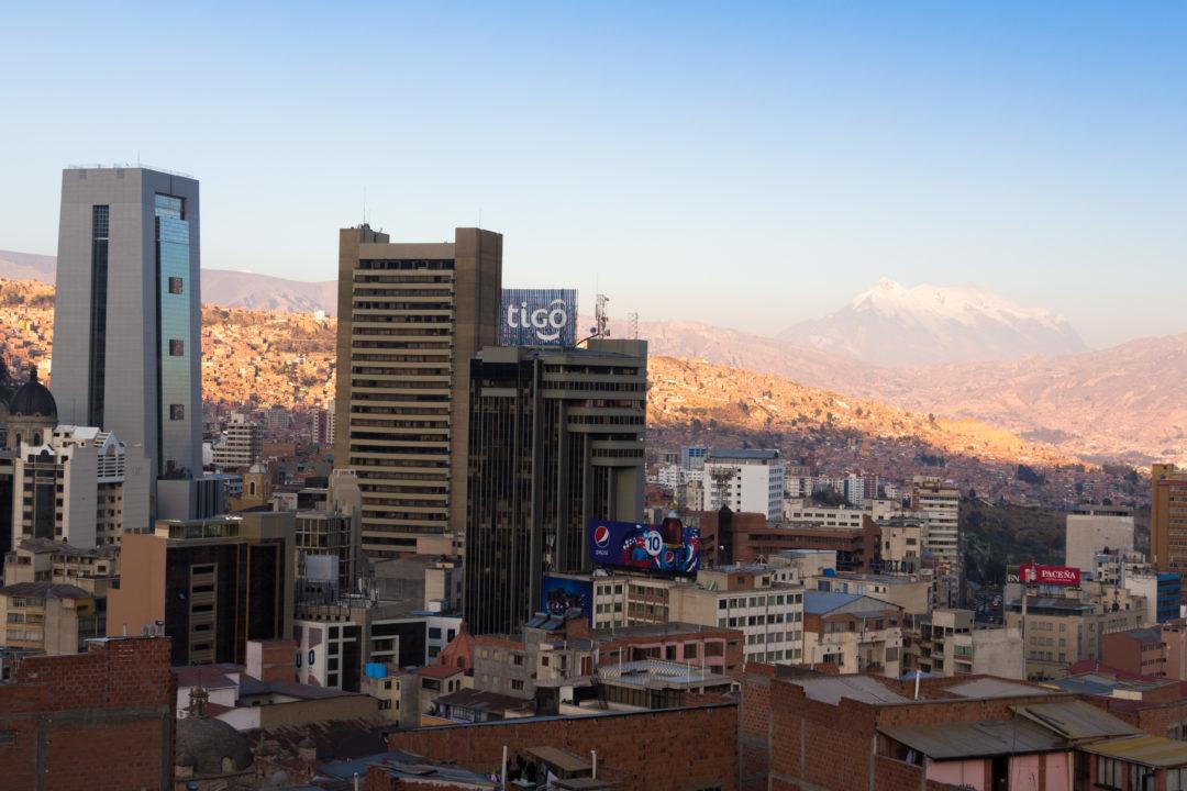 Vue de la ville de La Paz